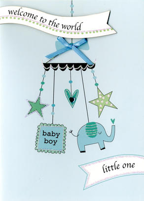 Welcome Baby Boy New Baby Greeting Card