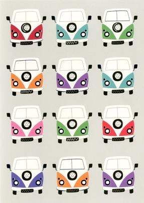 Camper Vans Any Occasion Greeting Card