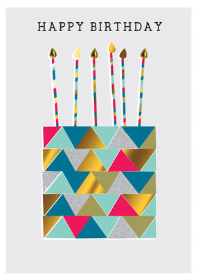 Birthday Cake Happy Birthday Greeting Card