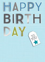 Happy Birthday Male Birthday Greeting Card