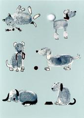 Playful Dogs Any Occasion Greeting Card