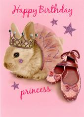 Happy Birthday Princess Birthday Greeting Card