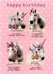 Birthday Unicorns Happy Birthday Greeting Card