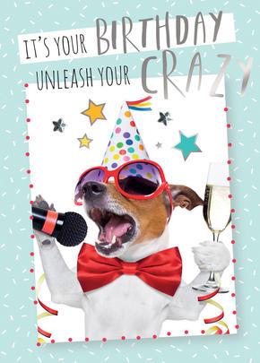Unleash Your Crazy Birthday Greeting Card