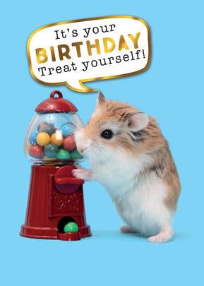 Treat Yourself Birthday Greeting Card