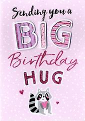 Big Birthday Hug Birthday Greeting Card