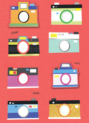Photo Cameras Any Occasion Greeting Card