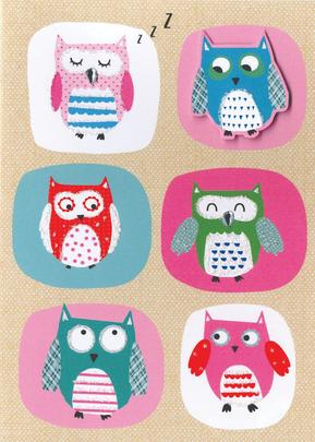 Cute Owls Any Occasion Greeting Card