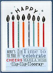 Time To Celebrate Happy Birthday Greeting Card