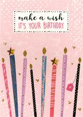 Make A Wish It's Your Birthday Greeting Card