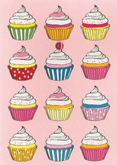 Yummy Cupcakes Any Occasion Greeting Card