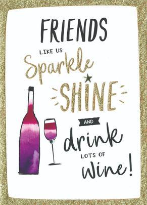 Friends Like Us Birthday Greeting Card