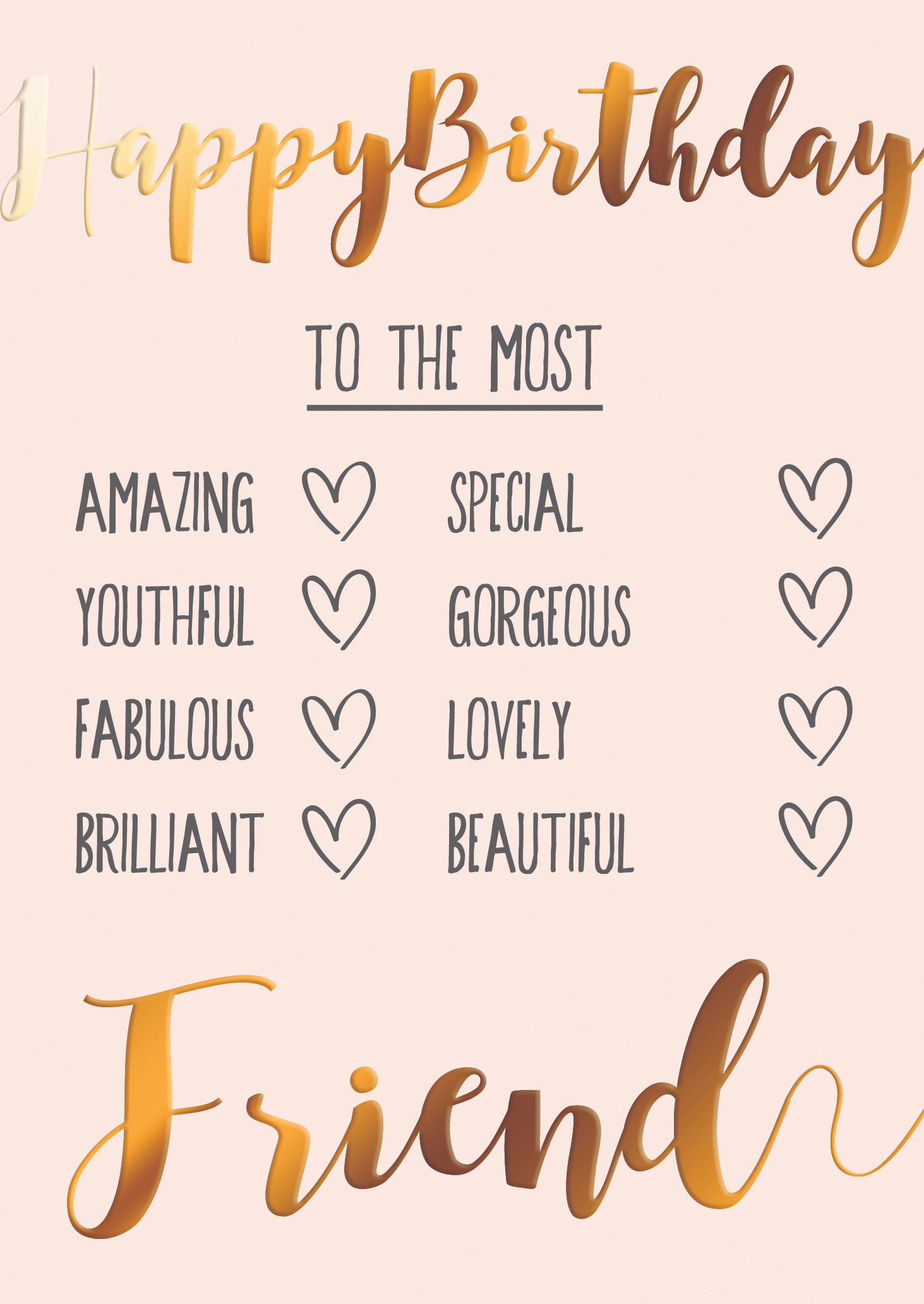 Peachy To The Most Friend Happy Birthday Greeting Card Cards Funny Birthday Cards Online Fluifree Goldxyz