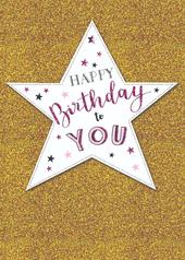 Big Star Happy Birthday Greeting Card