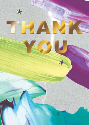 Thank You Greeting Card Blank Inside