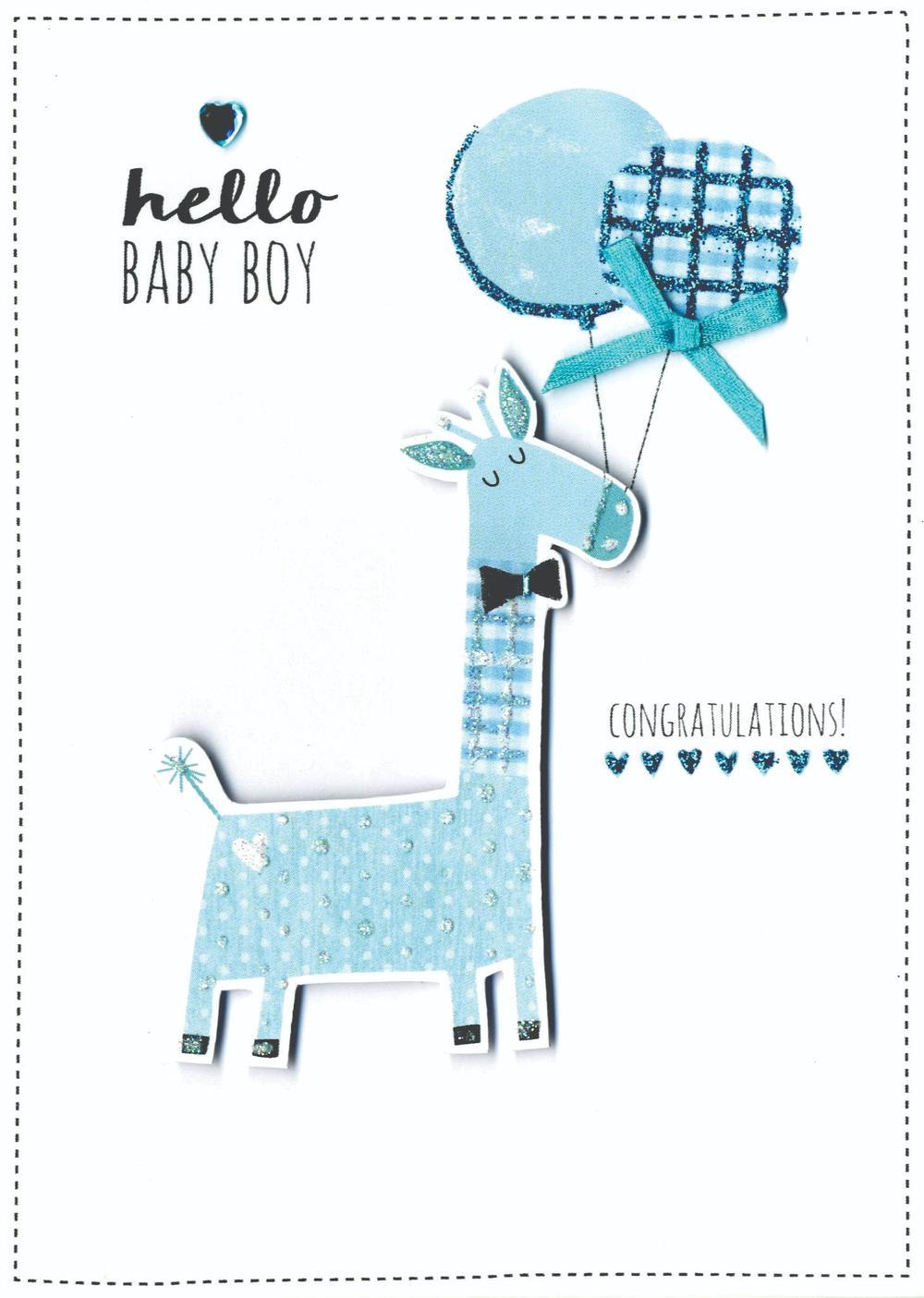Baby Boy Congratulations New Baby Greeting Card