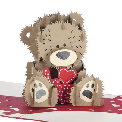 Love Bear Pop-Up Any Occasion Greeting Card Blank Inside