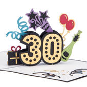 Aged To Perfection 30 Pop-Up Birthday Greeting Card Blank Inside