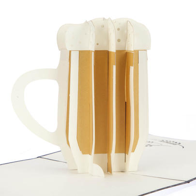 Beer Fat & Lean Pop-Up Any Occasion Greeting Card Blank Inside