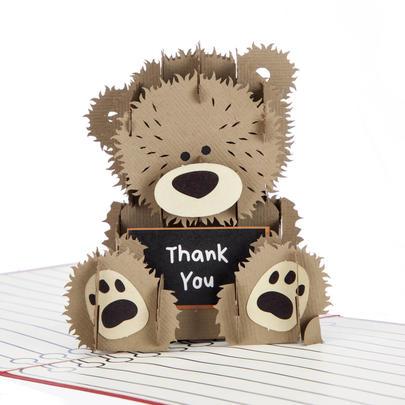 Thank You Teacher Pop-Up Thank You Greeting Card Blank Inside