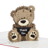 Thank You Teacher Pop-Up Thank You Greeting Card Blank Inside