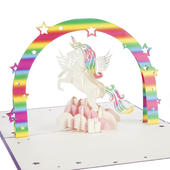 Unicorn Pop-Up Any Occasion Greeting Card Blank Inside