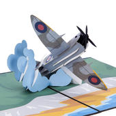 Spitfire Pop-Up Any Occasion Greeting Card Blank Inside