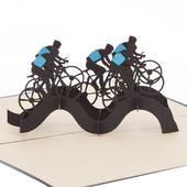 Cycling Pop-Up Any Occasion Greeting Card Blank Inside