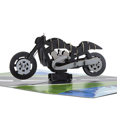 Motorbike Pop-Up Any Occasion Greeting Card Blank Inside