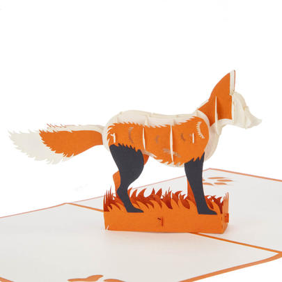 Fox Pop-Up Any Occasion Greeting Card Blank Inside