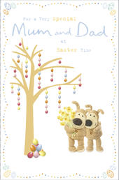Boofle For A Very Special Mum & Dad Easter Greeting Card