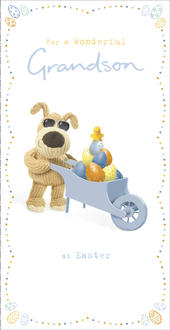 Boofle For A Wonderful Grandson At Easter Greeting Card