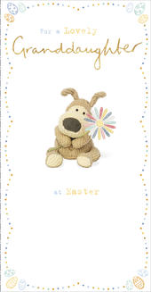 Boofle For A Lovely Granddaughter At Easter Greeting Card