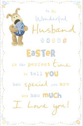 Boofle To My Wonderful Husband Easter Greeting Card