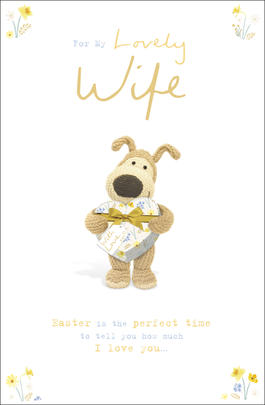 Boofle For My Lovely Wife Easter Greeting Card