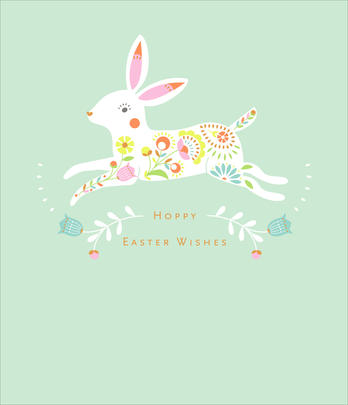 Hoppy Easter Wishes Cute Greeting Card