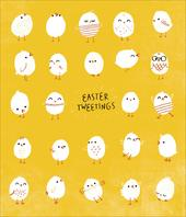 Easter Tweetings Cute Greeting Card