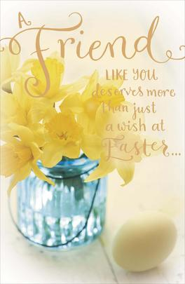 Friend More Than A Wish At Easter Greeting Card