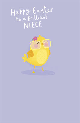 To Brilliant Niece Cute Happy Easter Greeting Card
