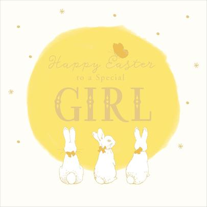 Peter Rabbit Special Girl Happy Easter Greeting Card