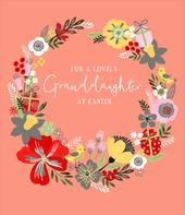 For A Lovely Granddaughter At Easter Greeting Card