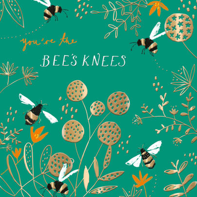 Bee's Knees Any Occasion Greeting Card By The Curious Inksmith