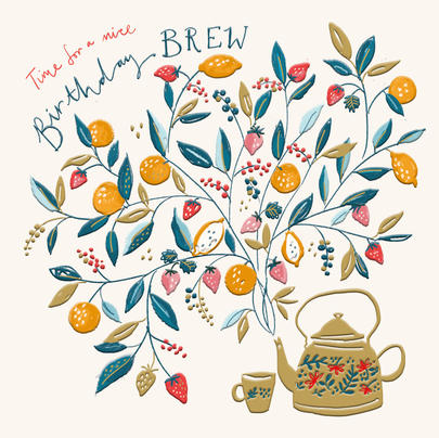 Nice Brew Birthday Greeting Card By The Curious Inksmith