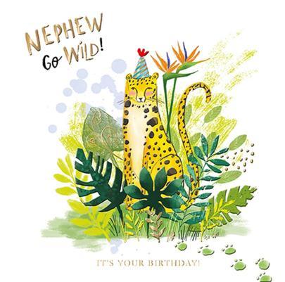 Nephew Go Wild Birthday Greeting Card By The Curious Inksmith