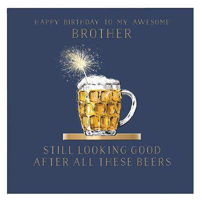 Awesome Brother Birthday Greeting Card By The Curious Inksmith