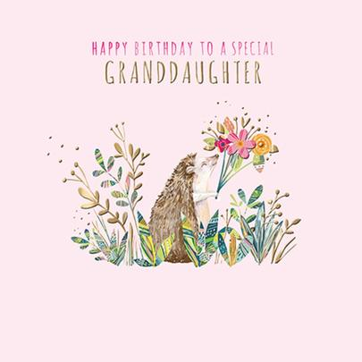 Granddaughter Birthday Greeting Card By The Curious Inksmith