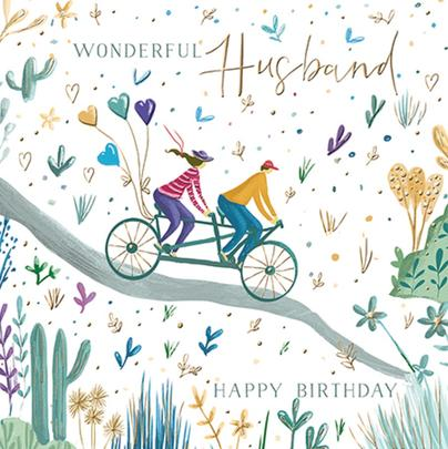 Wonderful Husband Birthday Greeting Card By The Curious Inksmith