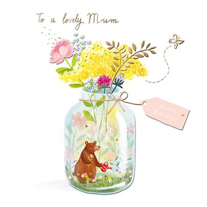 Lovely Mum Birthday Greeting Card By The Curious Inksmith