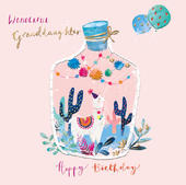 Granddaughter Llama Birthday Greeting Card By The Curious Inksmith