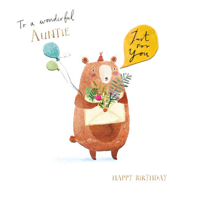 Wonderful Auntie Birthday Greeting Card By The Curious Inksmith